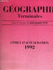 Géographie, terminales - Couverture - Format classique