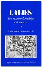 Revue Lalies T.14 - Couverture - Format classique