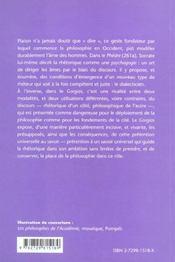 Platon Gorgias - 4ème de couverture - Format classique