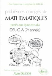 Problemes Corriges De Mathematiques Deug A (2e Annee) 1990-1991 - Couverture - Format classique
