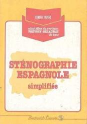 Stenographie Espagnole Simplifiee - Couverture - Format classique