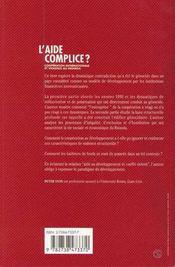 L'aide complice ? ; coopération internationale et violence au Rwanda - 4ème de couverture - Format classique