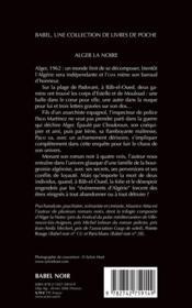 Alger la noire - 4ème de couverture - Format classique