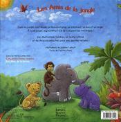Les amis de la jungle - 4ème de couverture - Format classique