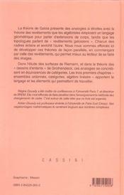 Algebre et theorie galoisiennes - 4ème de couverture - Format classique