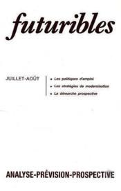 Futuribles N.123 Juillet Aout 1988 - Couverture - Format classique
