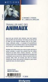 Travailler avec des animaux (4e edition) - 4ème de couverture - Format classique