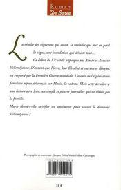 Marie des vignes - 4ème de couverture - Format classique