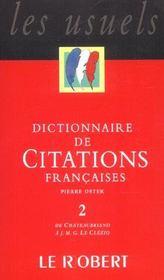 Dictionnaire de citations francaises t2 - Intérieur - Format classique