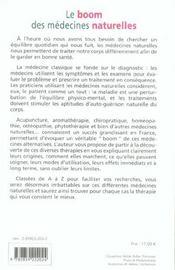 Boom Des Medecines Naturelles - 4ème de couverture - Format classique