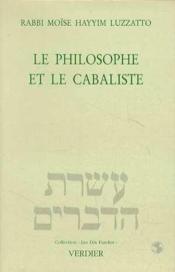 Le Philosophe Et Le Cabaliste - Couverture - Format classique