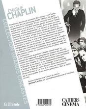 Charlie Chaplin - 4ème de couverture - Format classique