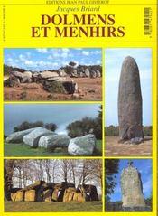 Dolmens Et Menhirs - 4ème de couverture - Format classique