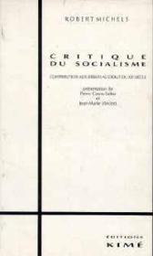 Critique du socialisme - Couverture - Format classique