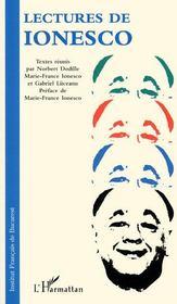 Lectures de Ionesco - Couverture - Format classique