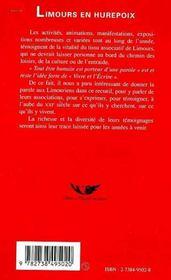 Limours En Hurepoix ; Une Trace Des Associations Pour Le Xxi Siecle - 4ème de couverture - Format classique