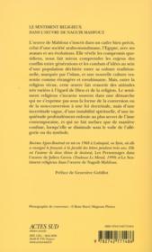 Le sentiment religieux dans l'oeuvre de Neguib Mahfouz - 4ème de couverture - Format classique