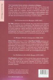 Nouvelle histoire de belgique t.1 ; 1830-1905 - 4ème de couverture - Format classique