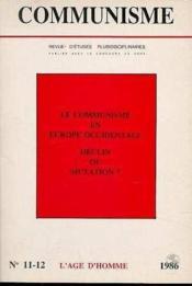 C11/12 Communisme 1986 - Couverture - Format classique