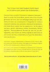 Ciné game book ; histoire mondiale du septième art - 4ème de couverture - Format classique