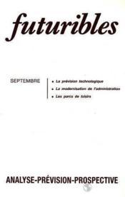 Futuribles N.124 Septembre 1988 - Couverture - Format classique