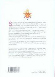 Benoît XVI, dernier pape ? la prophétie de saint malachie - 4ème de couverture - Format classique