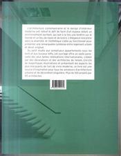 Appartements d'architectes - 4ème de couverture - Format classique