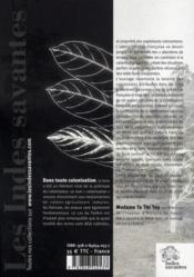 Les concesssions agricoles françaises au Tonkin de 1884 à 1918 - 4ème de couverture - Format classique