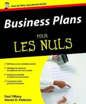Vente livre :  Business plans pour les nuls  - Paul Tiffany - Tiffany/Peterson