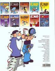 Leonard t.19 ; flagrant genie - 4ème de couverture - Format classique