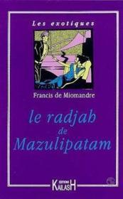 Le Radjha De Pazulipatam - Couverture - Format classique