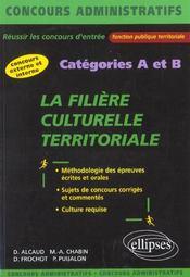La Filiere Culturelle Territoriales Categories A Et B Concours Externe Et Interne Fonction Publique - Intérieur - Format classique