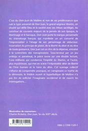 Moliere Dom Juan - 4ème de couverture - Format classique