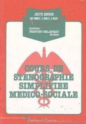 Cours De Stenographie Medico-Sociale - Couverture - Format classique