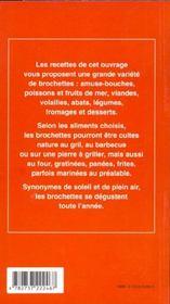 Brochettes - 4ème de couverture - Format classique