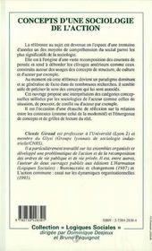 Concepts D'Une Sociologie De L'Action ; Introduction Raisonnee - 4ème de couverture - Format classique