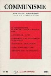 C13 Communisme 1987 - Couverture - Format classique