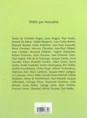 Paris de a a z - 4ème de couverture - Format classique
