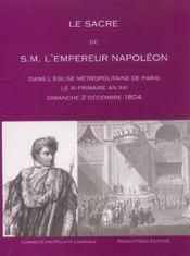 Le sacre de s.m. l'empereur napoleon dans l'eglise metr - Intérieur - Format classique