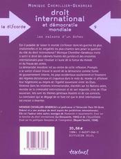 Droit international et démocratie mondiale ; les raison dun échec - 4ème de couverture - Format classique