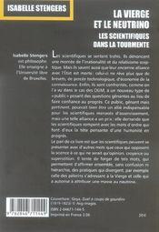 La Vierge Et Le Neutrino - 4ème de couverture - Format classique