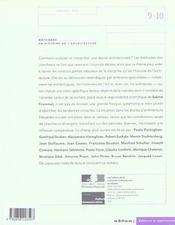 Les Cahiers De La Recherche Architecturale Et Urbaine N.9-10 ; Méthodes En Histoire De L'Architecture - 4ème de couverture - Format classique