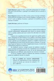 Epreuve de comprehension de texte - 4ème de couverture - Format classique