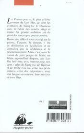 Le pousse-pousse - 4ème de couverture - Format classique