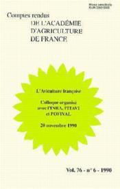 L'aviculture francaise (vol 76 n.6 1990) - Couverture - Format classique