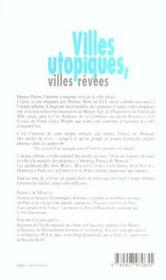 Villes Utopiques Villes Revees - 4ème de couverture - Format classique
