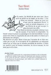 Tuer Henri - 4ème de couverture - Format classique