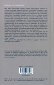 Femmes En Languedoc - 4ème de couverture - Format classique