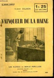 Vainqueur De La Haine. - Couverture - Format classique