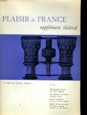 Plaisir De France Supplement Theatral N°345 - Couverture - Format classique